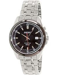 Seiko Men's SKA635 Silver Stainless-Steel Seiko Kinetic Watch
