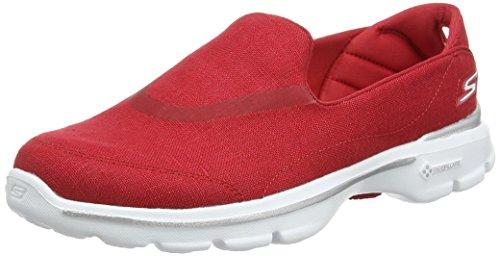 Skechers Gowalk 3 Rivera, Scarpe da Ginnastica Donna Red (Red)