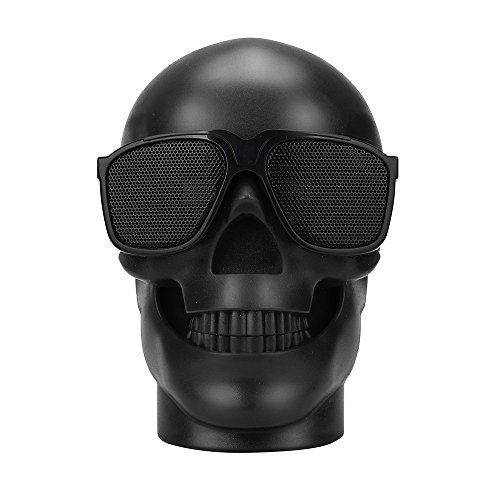 Dreamyth Plastic Novel Skull Metallic Wireless Shape Bluetooth Speaker Subwoofer Mobile Speaker (black)