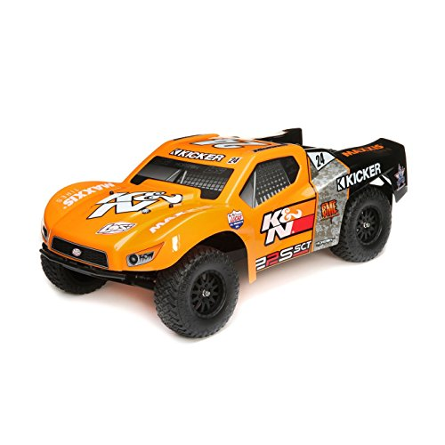 Losi 22S K&N SCT Brushless 2WD RC Short Course Truck RTR with DX2E Transmitter with AVC (Battery and Charger Not Included), 1/10 Scale (Orange)