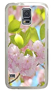the best Samsung Galaxy S5 covers Blooming Pink Flowers PC Transparent Custom Samsung Galaxy S5 Case Cover