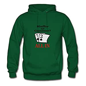 Vintage Bluffer Or Gambler Print Custom And Regular Hoodies In Green