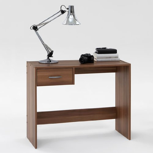 desk for small office. DMF PAUL Dark Walnut Finish Office Desk/Study Table With Drawer Desk For Small S