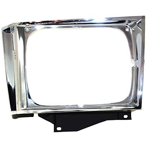 Evan-Fischer EVA18972010842 Headlight Door for Chevrolet S10 Pickup 82-90 Chrome Left Side