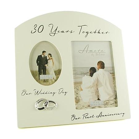 ukgiftstoreonline Personalised First Wedding Anniversary Multi Photo ...