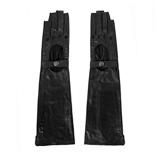 クルーファイター繰り返しMatsuレディースLady 'sファッション長い指なしレザーグローブm9404 – 44