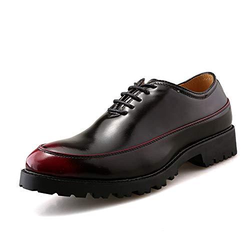 Dimensione Silver Oxford Eu Uomo Di Cerimonia color Pelle Uomo Rosso Xiazhi Contrasto A Verniciata Da Vernice Retrò shoes In Colore Scarpe 39 EqSTUF