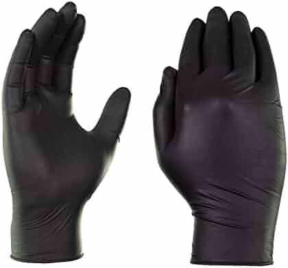 AMMEX - GPNB - Nitrile Gloves - GlovePlus - Disposable, Powder Free, Industrial, 5 mil, Black
