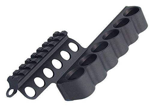 Mesa Tactical SureShell Aluminum Carrier and Rail for Beretta 1301 Tactical, 12-GA, Black, 94270 by Mesa Tactical