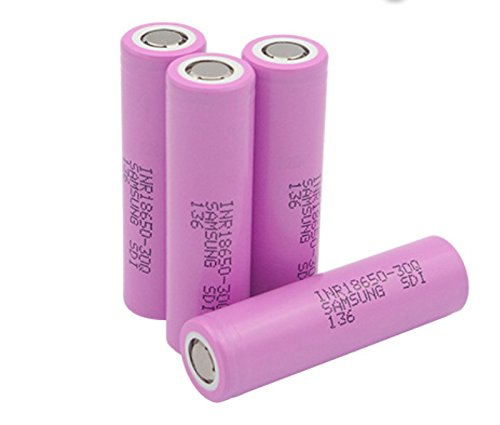 Authentic 4-Pack 3000mAh High Drain IMR Samsung 3.6V 18650 Rechargeable Lithium Ion Battery INR18650 30Q Max 20A Current Load VS Samsung 25R LG HE4 HE2