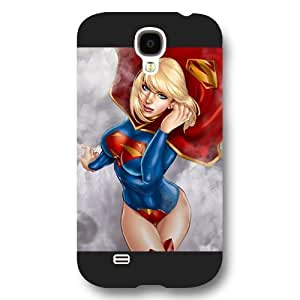 UniqueBox Super girl Custom Phone Case for Samsung Galaxy S4, DC comics Super girl Customized Samsung Galaxy S4 Case, Only Fit for Samsung Galaxy S4 (Black Frosted Shell)