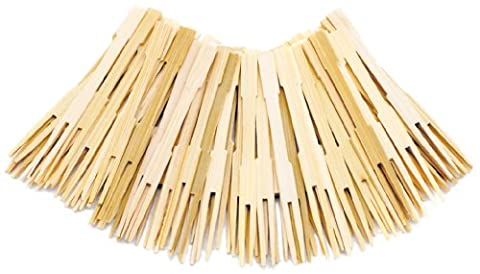 Norpro Bamboo Party Forks, 72 Pieces - Decorative Toothpicks