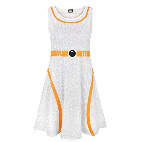 Star Wars Womens/Ladies BB-8 Costume Dress (3XL) (White) -
