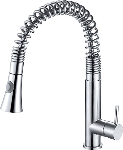 Alfi Kitchen Faucet (ALFI brand  AB2032 Solid Commercial Spring Kitchen Faucet with Pull Down Shower Spray, Stainless Steel)
