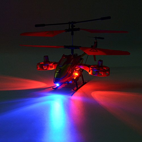 GPTOYS Remote Control Helicopter 4 Channel RC Helicopter with LED Light Indoor Rechargable RC Toys for Kids Boys and Girls by GPTOYS (Image #3)