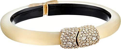 Alexis Bittar Women's Crystal Encrusted Clasp Skinny Hinge Bracelet Gold One Size