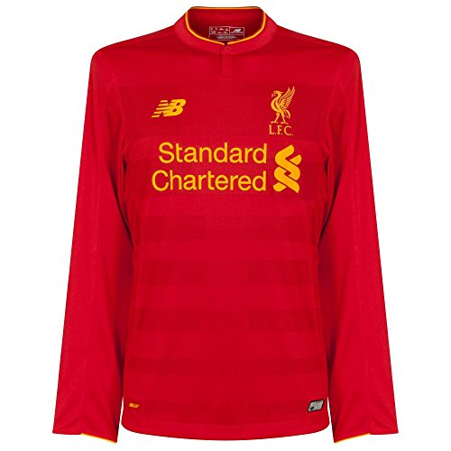 New Balance Liverpool FC 2016/17 Long Sleeve Home Jersey - Adult - Red - - Liverpool Sleeve Long Jersey