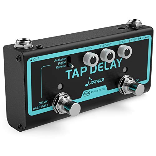 (Donner Multi Guitar Effect Pedal Tap Delay 3 Delay Modes Analogue, Digital, Reverse)