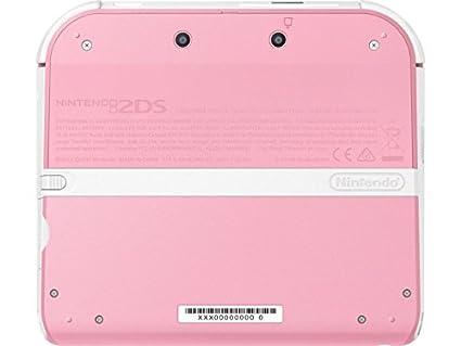 Carcasa completa para Nintendo 2DS. Rosa/blanca. Original ...