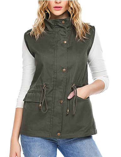 Zeagoo Womens Casual Work Utility Hunting Travels Sports Vest with Pockets, Army Green, XL by Zeagoo (Image #1)