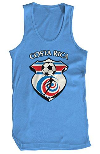 - Amdesco Men's Costa Rica Soccer, Costa Rican Football Tank Top, Carolina Blue XL