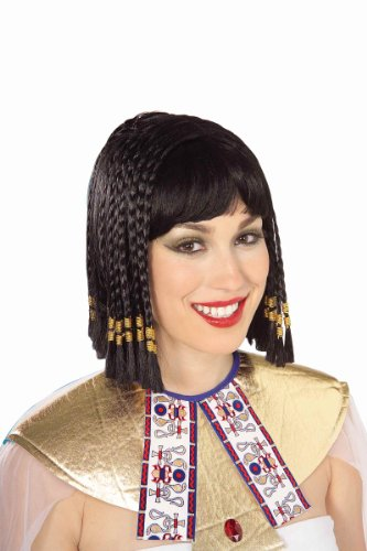 Forum Queen Of The Nile Braided Wig, Black, One Size (Cleopatra Black Costume)
