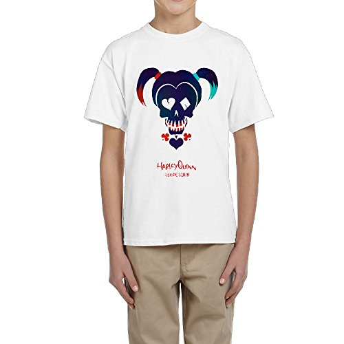 Boy Summer Short Sleeves Shirts With Suicide Squad Harley Quinn (Kids Harley Quinn Mallet)