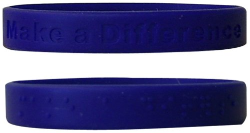 The Braille Store Set Of 8 Print-Braille Wristbands With Catchy Phraises by The Braille Store