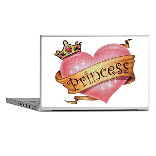 Laptop Notebook 15 Inch Skin Cover Princess Crowned Pink Heart