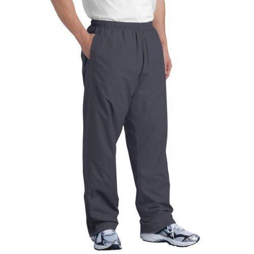 Sport-Tek Men's Elastic Drawcord Lightweight Wind Pant_Graphite Grey_XS ()