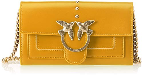 Wallet Shoulder Pinko With Aliboni Women's Vitello Fulvo Clutch giallo Yellow Seta EUZZAqnwP