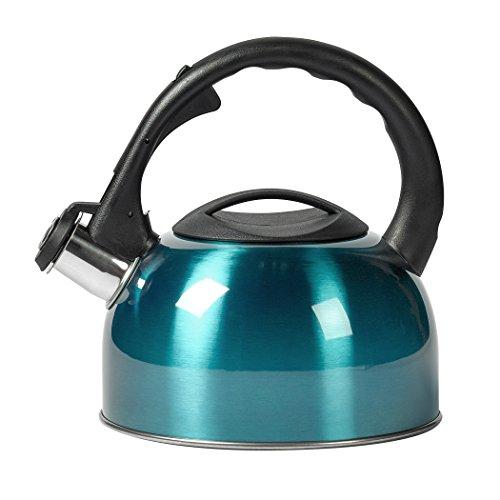 Basic Essentials 2 quart Stainless Steel Whistling Teakettle