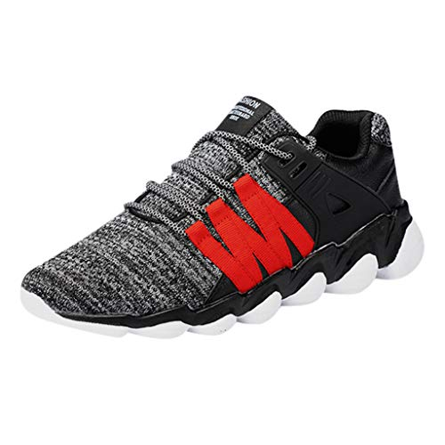 JJLIKER Men's Running Shoes Fashion Breathable Sneakers Mesh Soft Sole Casual Athletic Lightweight Walking Shoes