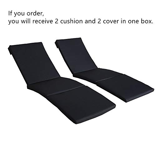 2Pcs Navy Cushions and Covers of OnlyJETIME Patio Furniture Outdoor Lounge Chairs