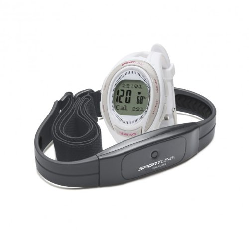 Sportline Cardio 660 Coded Heart Rate Monitor - Pulsómetro (mujer, de pulsera), color blanco roto, talla UK: N/A SportsCentre SP1449WH