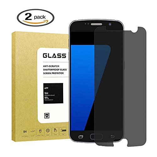 [2-Pack] for Galaxy S7 Privacy Anti-Spy Tempered Glass Screen Protector,ZzzBuoo[9H Hardness][No-Bubble][Anti-Fingerprint][Scratch-Resistant] Glass Screen Protector for Samsung Galaxy S7(Black)