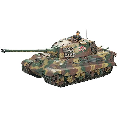 VsTank A03103006 VSP King Tiger II Henschel Camo 2.4GHz Electric RC Battle Tank with IR Infrared Battle System, Light and Sound, 1:24 Scale