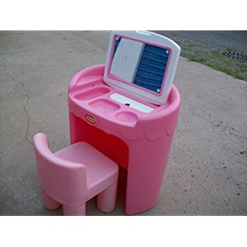 Amazon Com Little Tikes Little Girls Pretend Play Vanity Amp Chair Toys Amp Games