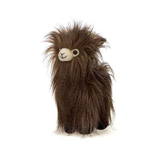 (Fiesta Toys Shaggimals Shaggy Llama Brown and Black Fuzzy Stuffed Animal Toy - 11 Inches)