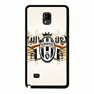 Particular Polished Juventus FC Logo Phone Accessories for Samsung Galaxy Note 4 Soccer Clublogo Image Phone Case