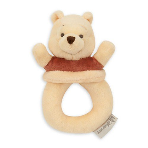 Disney Winnie the Pooh Plush Rattle for Baby