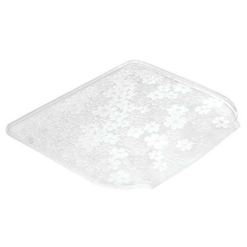 InterDesign Blumz Kitchen Dish Drain Board for Pots, Pans, Glasses, Bowls - Small, Clear (Interdesign Blumz Sink)