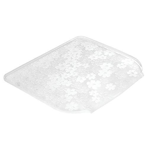 InterDesign Blumz Kitchen Dish Drain Board for Pots, Pans, Glasses, Bowls - Small, Clear (Blumz Interdesign Sink)