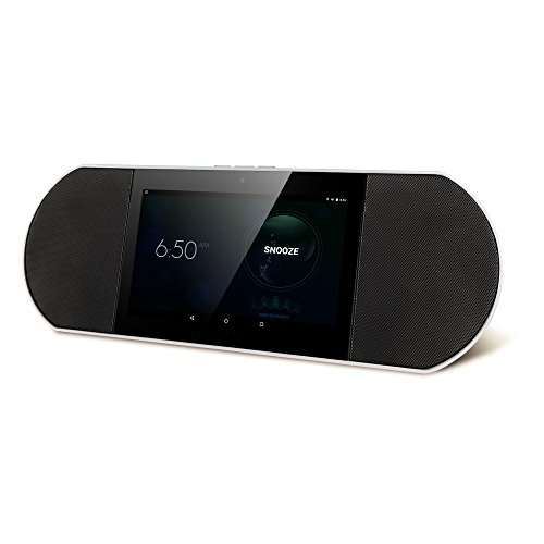Zettaly Avy Wireless Smart Speaker (White), WiFi Internet Radio Powered By Android 4.4 Kitkat with Built-in 7 Inch Quad Core Tablet and Google Play by Zettaly
