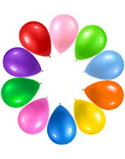 Prextex 125 Party Balloons 12 Inch 10 Assorted Rainbow Colors - Bulk Pack of Strong Latex Balloons for Party Decorations, Birthday Parties Supplies or Arch Decor - Helium Quality