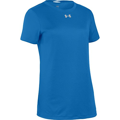 Under Armour Women's UA Short Sleeve Locker T-Shirt (X-Large, Powderkeg Blue-Metallic ()
