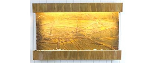 - Water Wonders Large Horizon Falls Rainforest Brown Marble with Copper Patina Trim