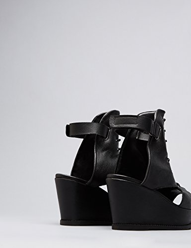 FIND-Womens-Sandals-in-Leather-Lace-Up-with-Wedge-Heel