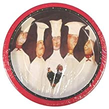 """C.R. Gibson Skinny Chefs 9"""" Lunch Plates (TW2-2432)"""
