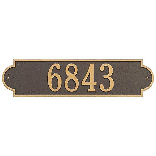(Whitehall Custom Richmond Estate Wall Address Plaque 25